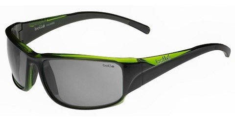 Bolle Keelback (Rx) Shiny Black - Green Translucent Prescription Sunglasses