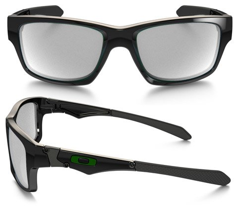 Oakley Jupiter Squared (Rx) Polished Black - Green Icon Prescription Sunglasses