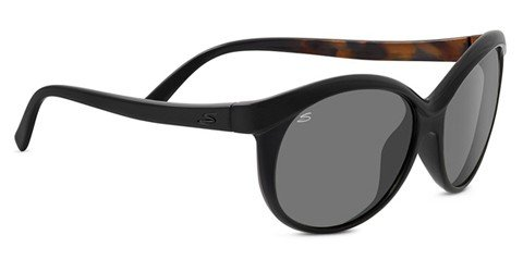 Serengeti Caterina (Rx) Shiny Black Tortoise Prescription Sunglasses