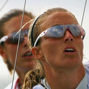 Christina Bassadone & Saskia Clark (Olympic Sailors) wearing Adidas T-Sight L a154