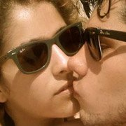 Ray-Ban fans Danny Cassel and Lisa Crusty wearing RB2140 Original Wayfarers