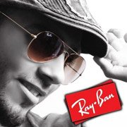 Ray-Ban fan Amjad Najeh Salameh wearing Large Aviators RB3025-001-51