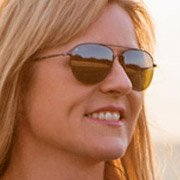 Sabine Schmitz - Pro Driver and Auto Enthusiast wearing Serengeti Alghero