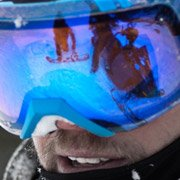 Scott Stevens - Pro Snowboarder wearing Smith Optics I-O