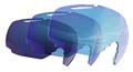 Phantom Vermillon Blue Bolle Ski Goggle Lenses